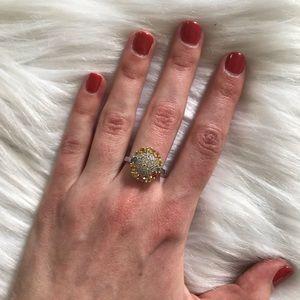 NWT JTV Sapphire Multicolored Round Ring